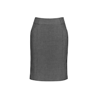 TEXTURED YARN DYED STRETCH FEATURE PLEAT SKIRT