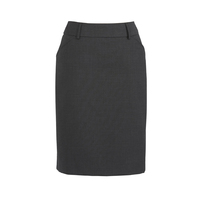 COMFORT WOOL STRETCH MULTI-PLEAT SKIRT