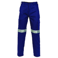 LIGHTWEIGHT COTTON CARGO PANTS WITH 3M R/TAPE