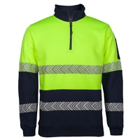JB's HI VIS 1/2 ZIP SEGMENTED TAPE FLEECY