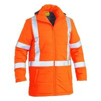 TAPED HI VIS PUFFER JACKET WITH X BACK (SHOWER PROOF)