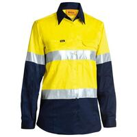 WOMENS 3M TAPED COOL LIGHTWEIGHT HI VIS SHIRT LONG SLEEVE