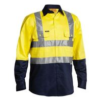 3M TAPED HI VIS DRILL SHIRT LONG SLEEVE