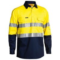 3M TAPED CLOSED FRONT COOL LIGHTWEIGHT HI VIS LONG SLEEVE SHIRT