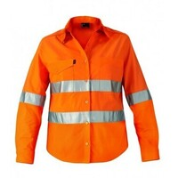 WOMENS WORKCOOL 2 HI VIS REFLECTIVE LONG SLEEVE SHIRT