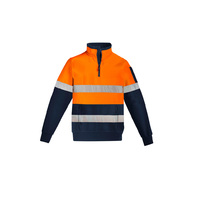 MENS HI VIS 1/4 ZIP HOOP TAPED PULLOVER