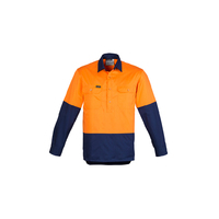 MENS HI VIS CLOSED FRONT LONG SLEEVE SHIRT