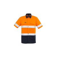 MENS RUGGED COOLING TAPED HI VIS SPLICED SHORT SLEEVE SHIRT